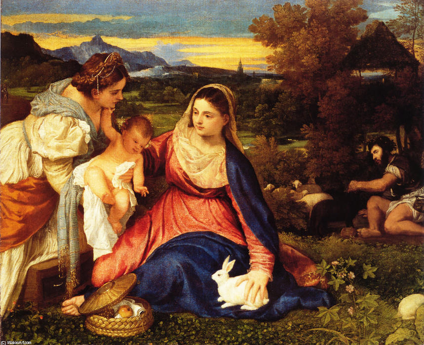 Titian-Tiziano-Vecelli-Madonna-of-the-Rabbit-aka-Madonna-and-Child-with-St.-Catherine-and-a-Rabbit-
